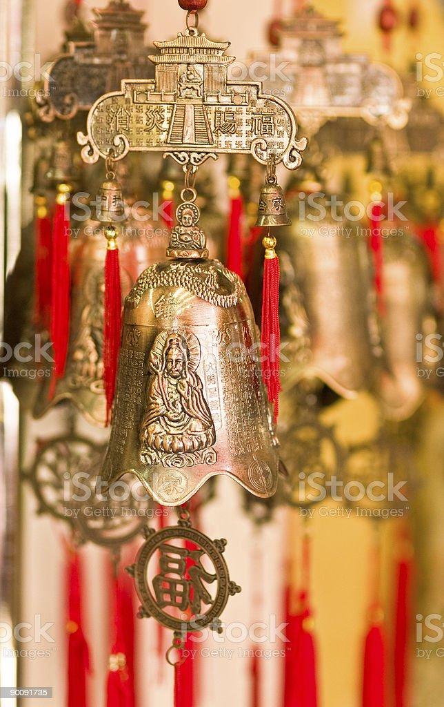 Buddhist Prosperity Bells stock photo