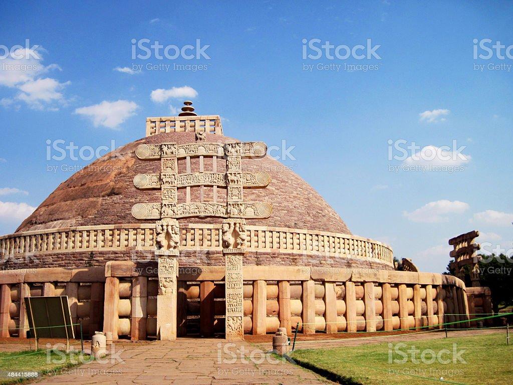 Buddhist Sanchi Stupa stock photo