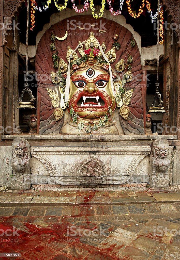 Buddhist Sculpture in Kathmandu royalty-free stock photo