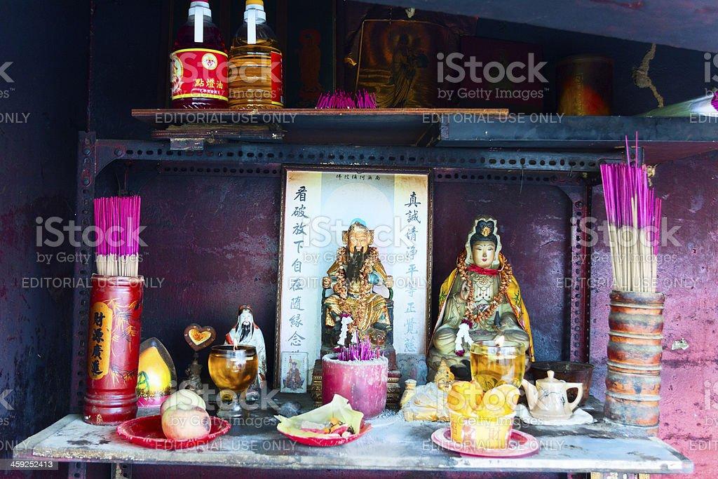 Buddhist shrine royalty-free stock photo