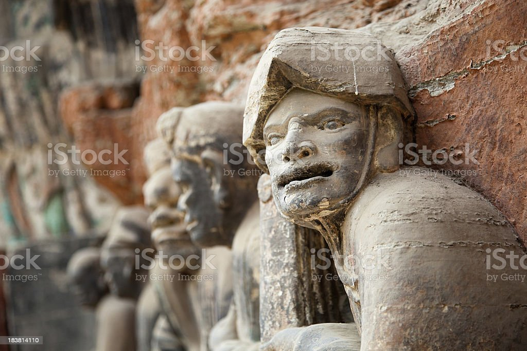 Buddhist statue at Dazu Stone carvings stock photo