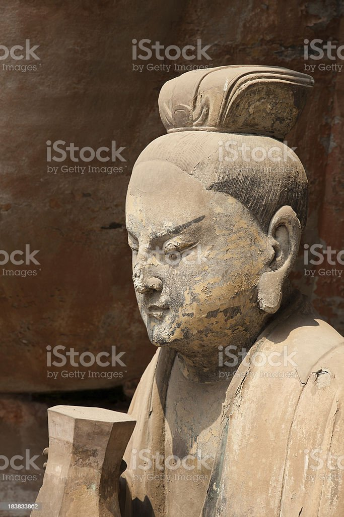 Buddhist statue at Dazu Stone carvings royalty-free stock photo