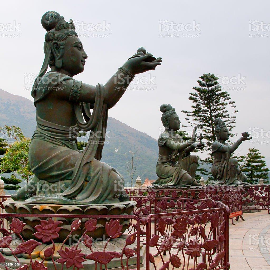 Buddhist statue at Po Lin Monastery stock photo