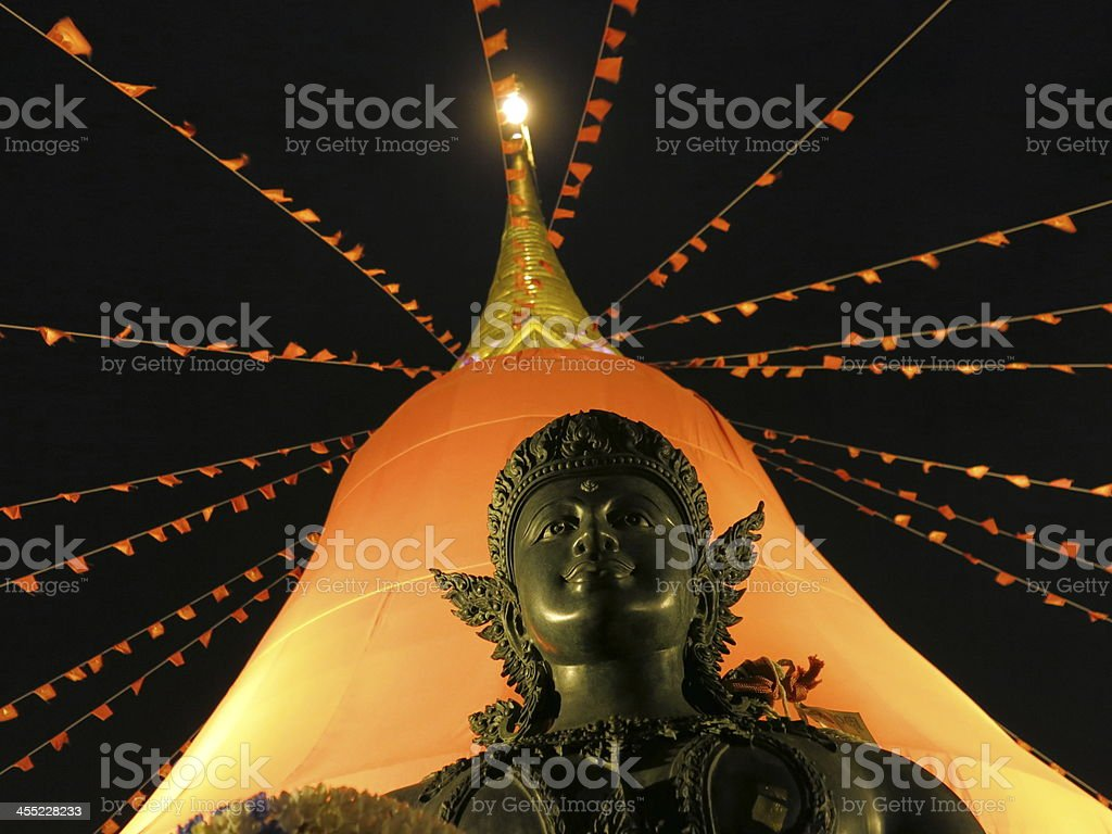 Buddhist statue, pagoda, faith and culture royalty-free stock photo