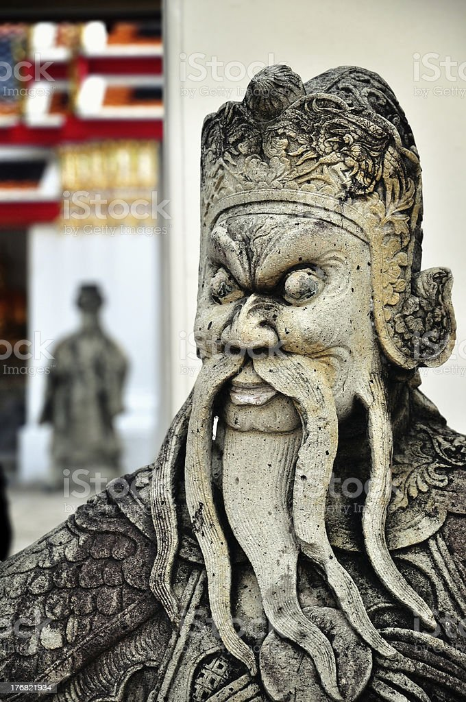 Buddhist statue royalty-free stock photo