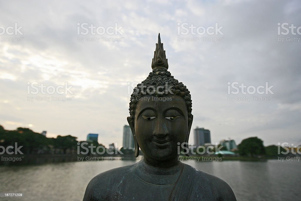 Buddhist statue royalty-free stock photo