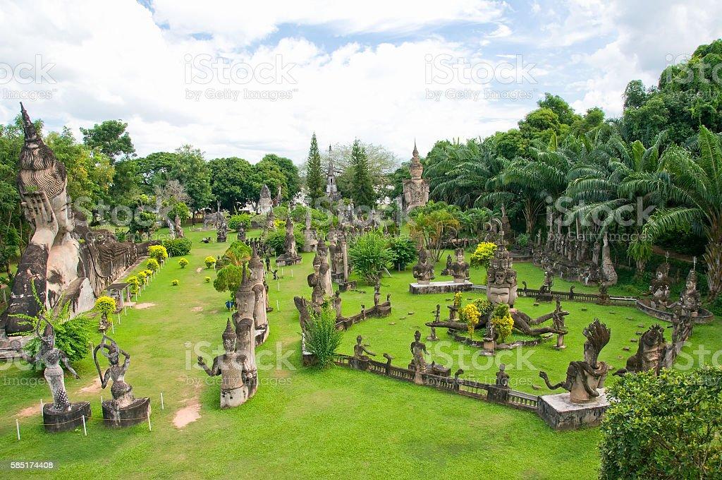 Buddhist statues at Buddha Park, Wat Xieng Khuan, Vientiane, Laos stock photo