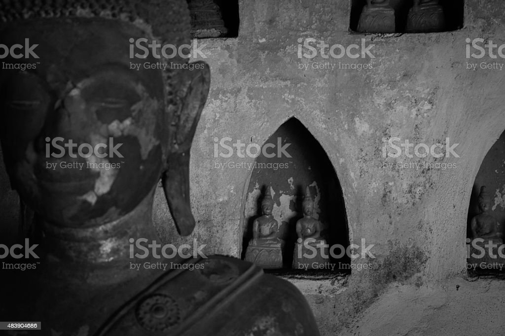 Buddhist Statues in Laos royalty-free stock photo