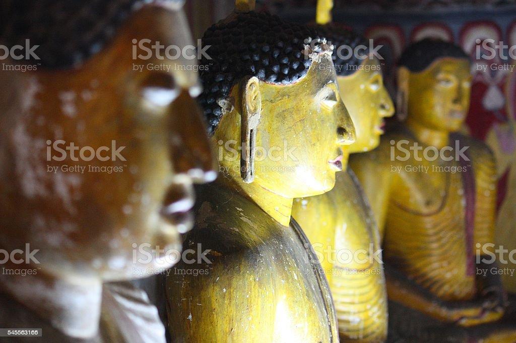 Buddhist statues stock photo