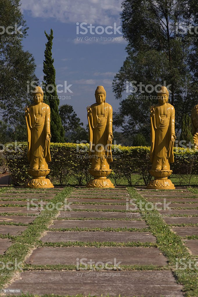 Buddhist statues royalty-free stock photo