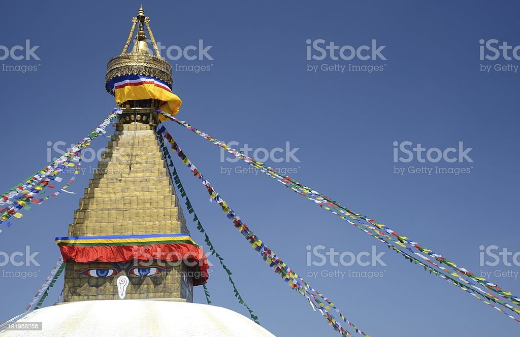 buddhist stupa in Bodnath royalty-free stock photo