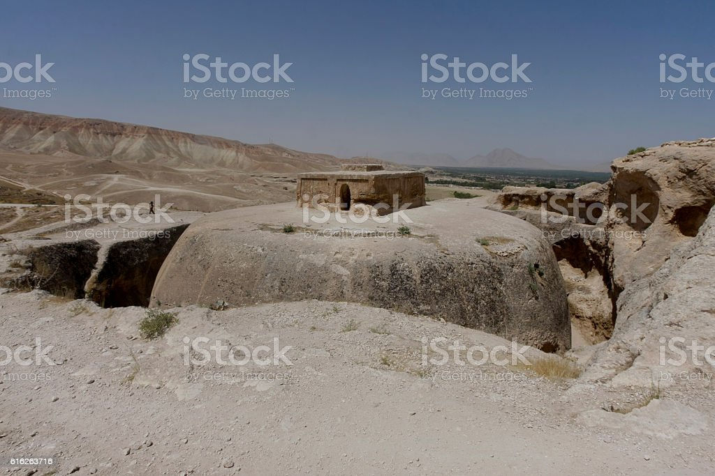 Buddhist stupa in North Afghanistan stock photo