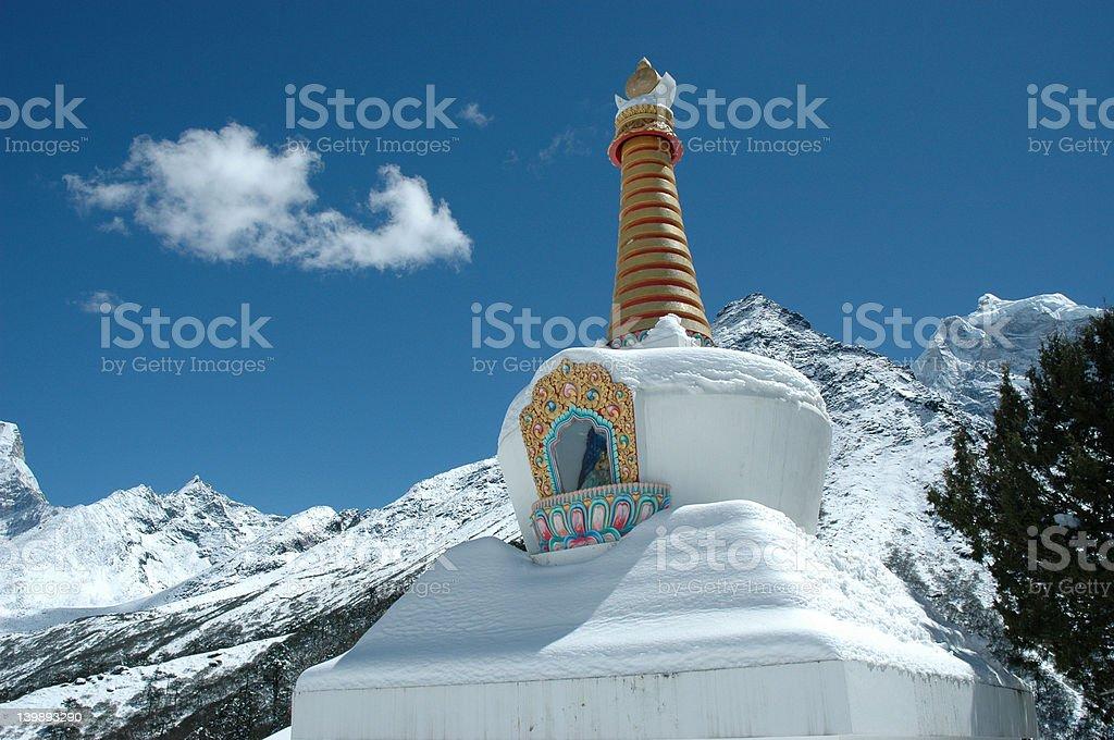 Buddhist Stupa in the Himalaya royalty-free stock photo