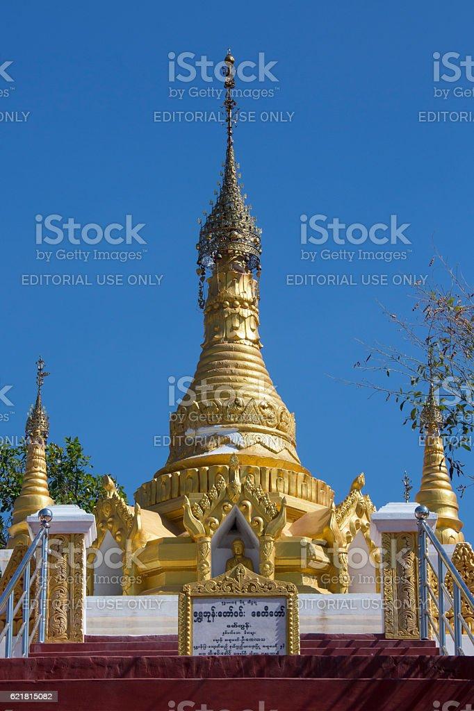 Buddhist Stupa near Mt Popa - Myanmar stock photo