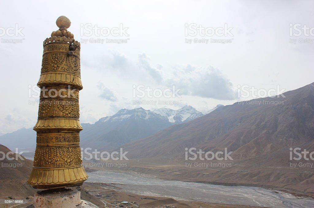 Buddhist Stupas in Kaza,  India stock photo