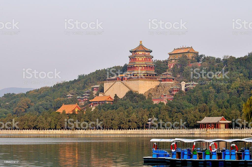 Buddhist Summer Palace Pavilion on Longevity Hill in Beijing royalty-free stock photo