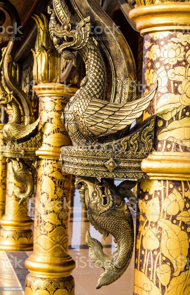 Buddhist temple art stock photo