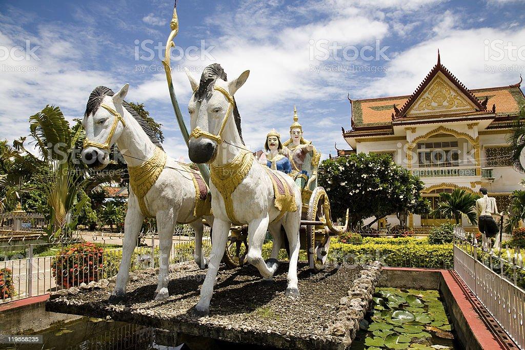 Buddhist Temple, Battambang, Cambodia stock photo