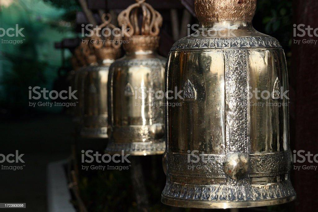 Buddhist Temple Bells, Chiang Mai, Thailand stock photo