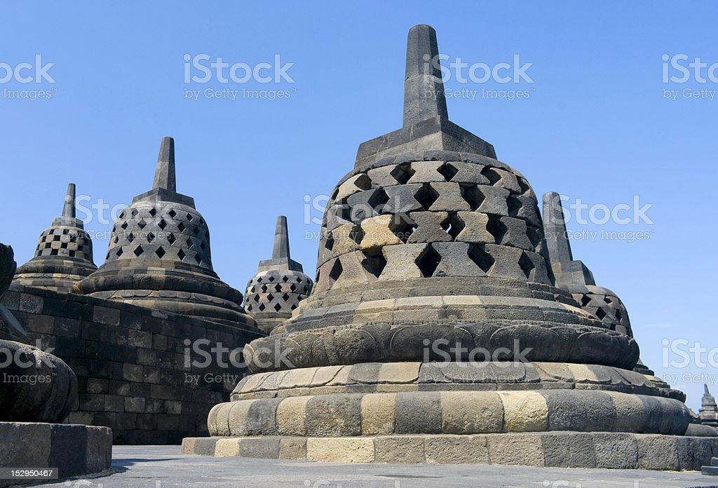 Buddhist temple Borobudur. Yogyakarta royalty-free stock photo