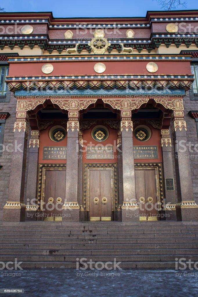 Buddhist Temple, Datsan Monastery, Entrance stock photo