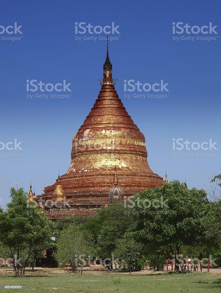 Buddhist temple, Dhammayazika Pagoda, Bagan, Myanmar(Burma). stock photo