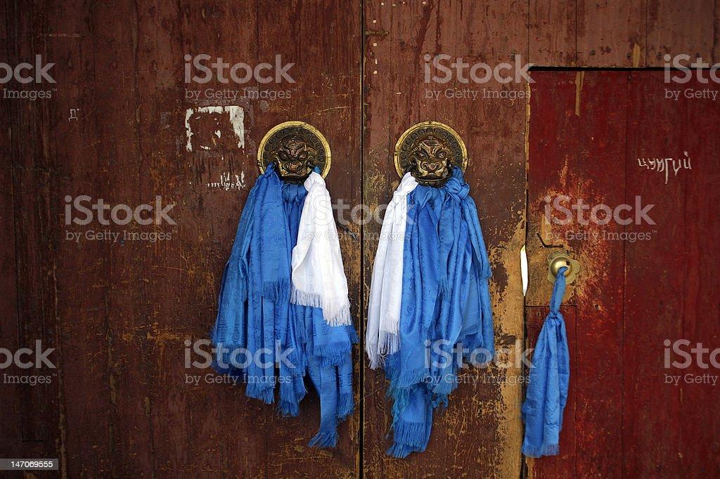 Buddhist Temple Door royalty-free stock photo