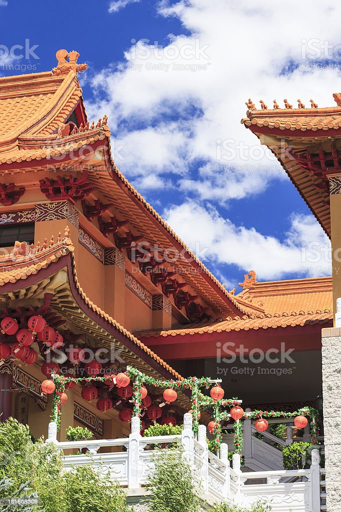 Buddhist temple garden royalty-free stock photo