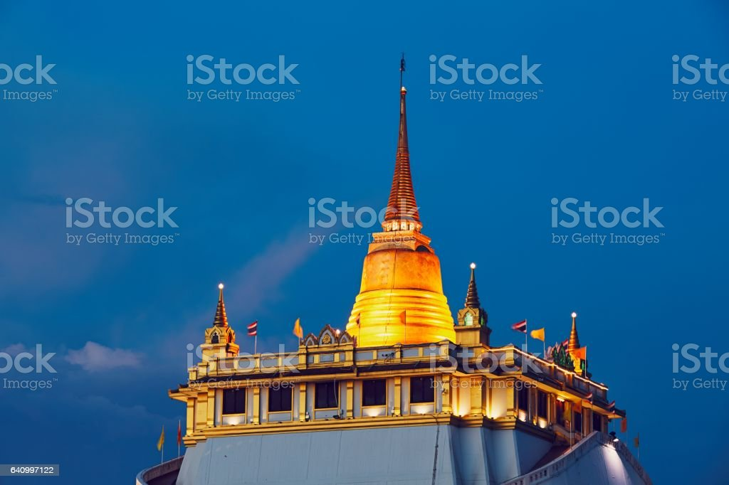 Buddhist temple in Bangkok stock photo