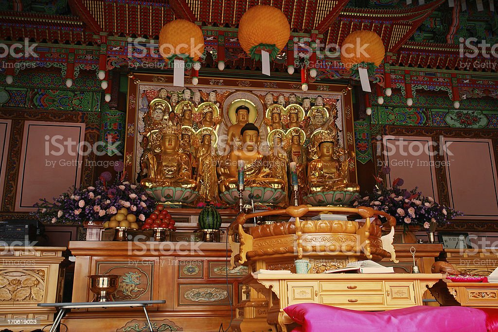 Buddhist Temple in Bukhansan royalty-free stock photo