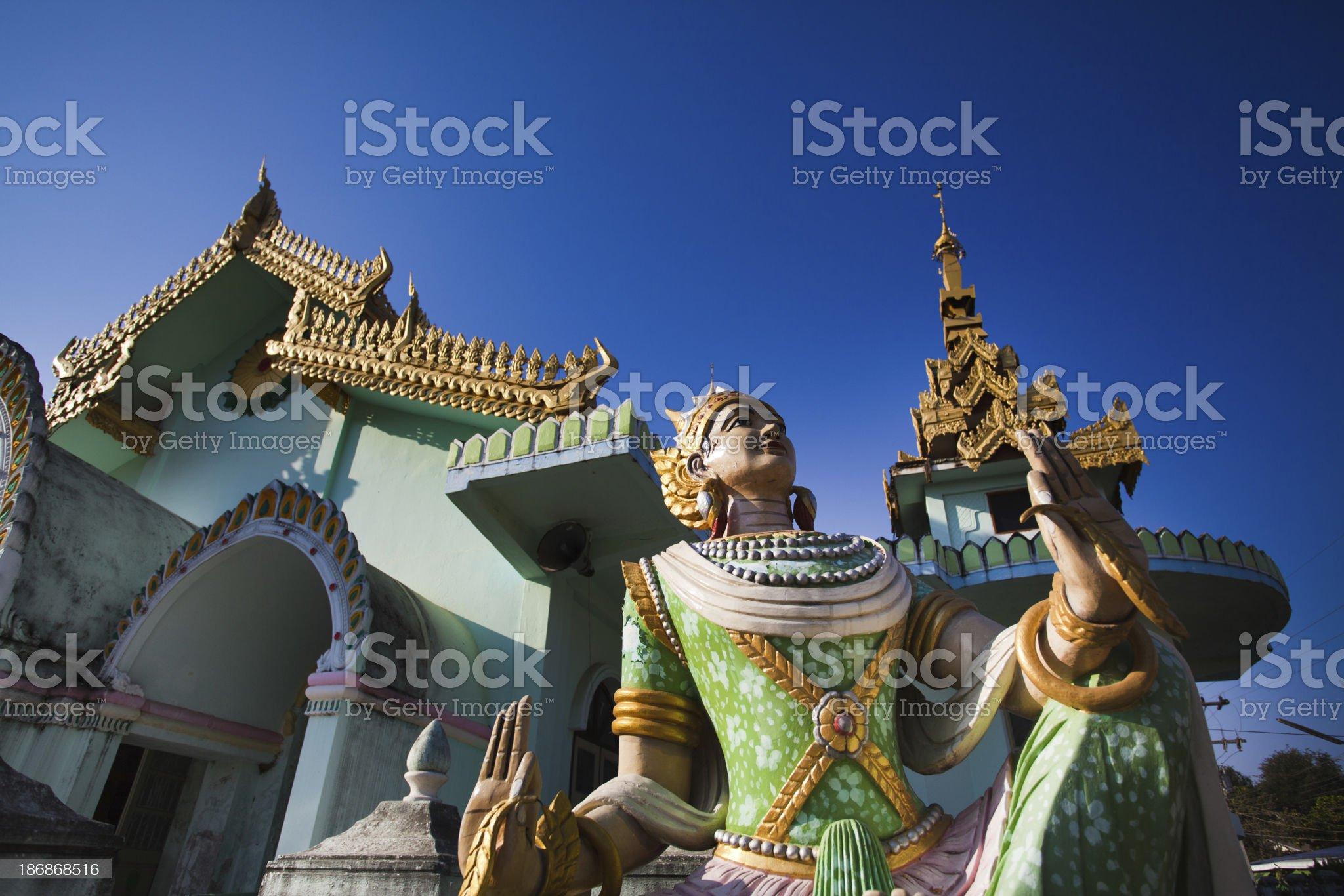 Buddhist Temple in Burma royalty-free stock photo