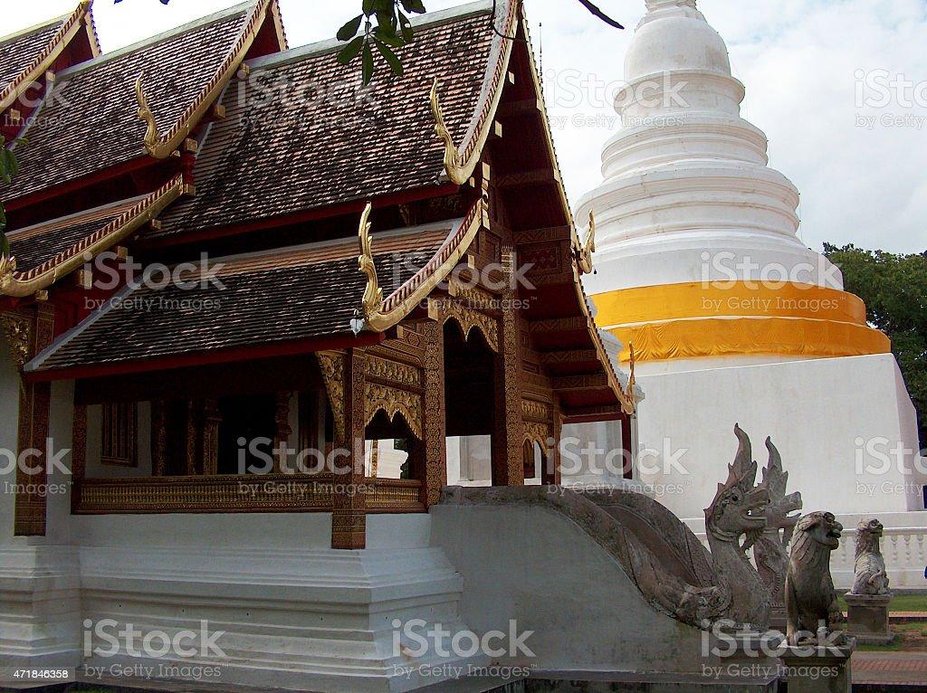 Templo budista de Chiang Mai thailand foto de stock libre de derechos