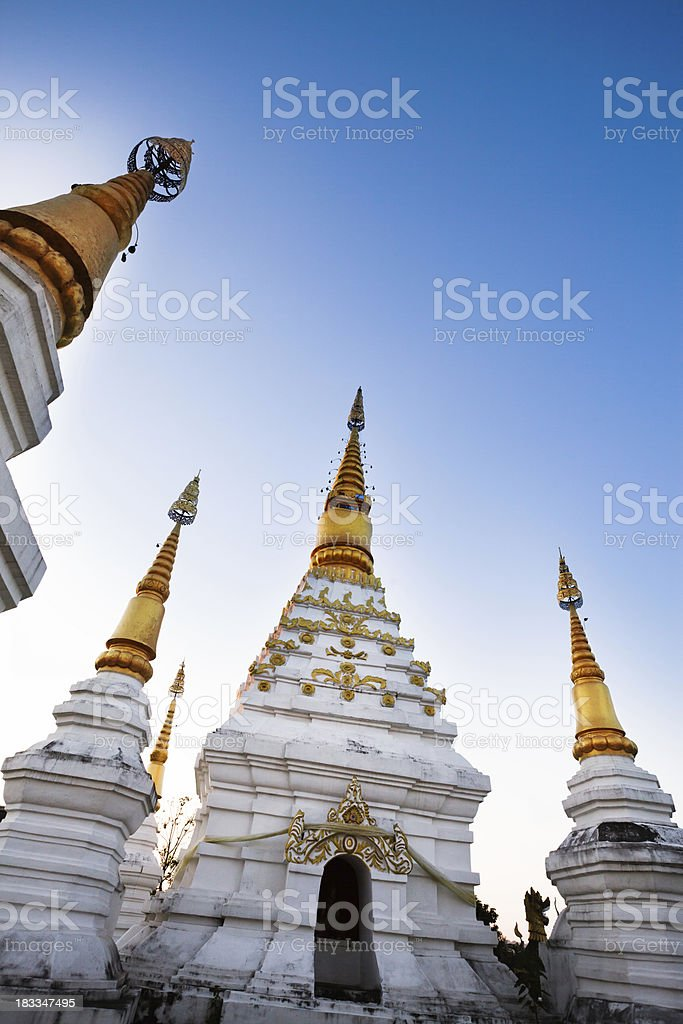 Buddhist Temple in Chiang Rai, Thailand royalty-free stock photo
