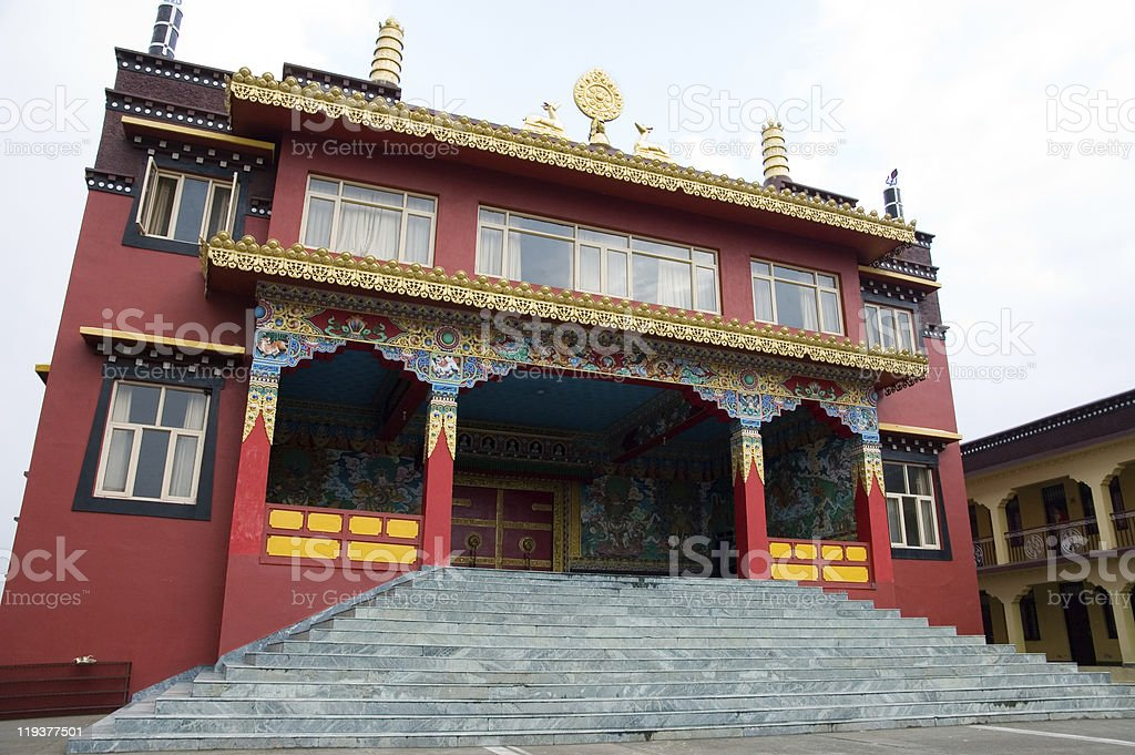 Buddhist temple in Dharamsala, India stock photo