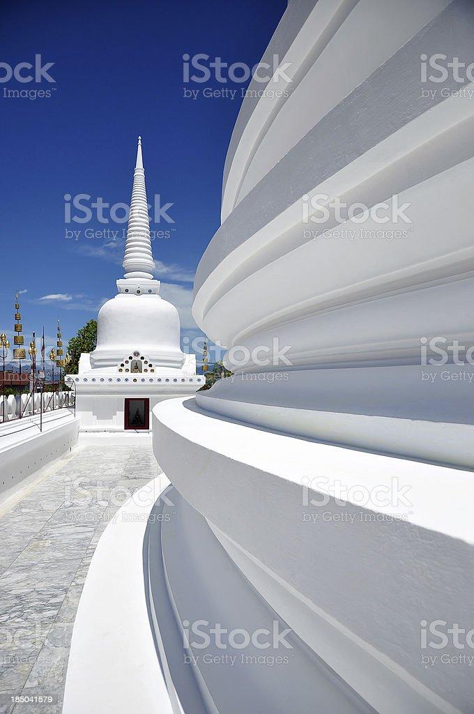 Buddhist temple in Nakornsi Thammarat , south of Thailand royalty-free stock photo