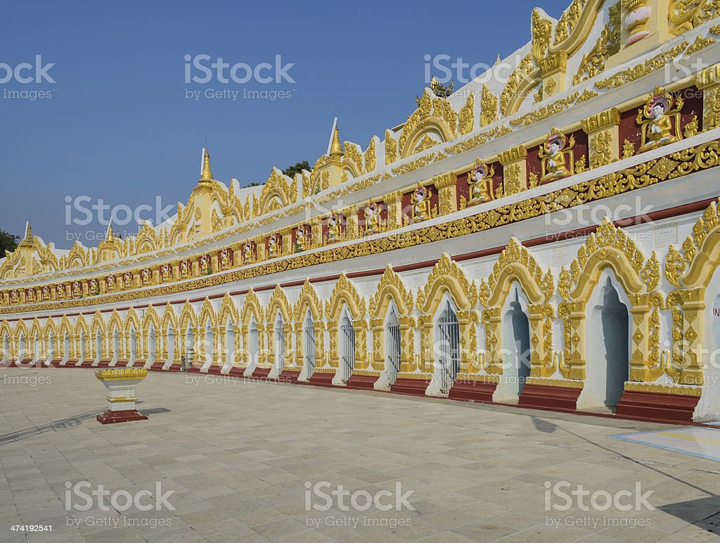 Buddhist temple in Sagaing hill, Myanmar stock photo