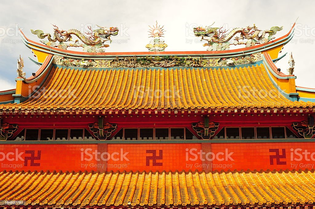 Buddhist Temple in Singapore stock photo