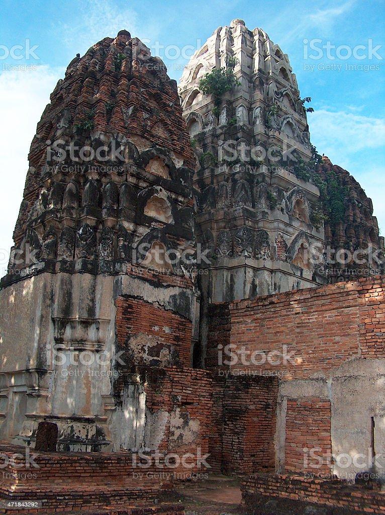 En Tailandia, templo budista Sukhothai foto de stock libre de derechos