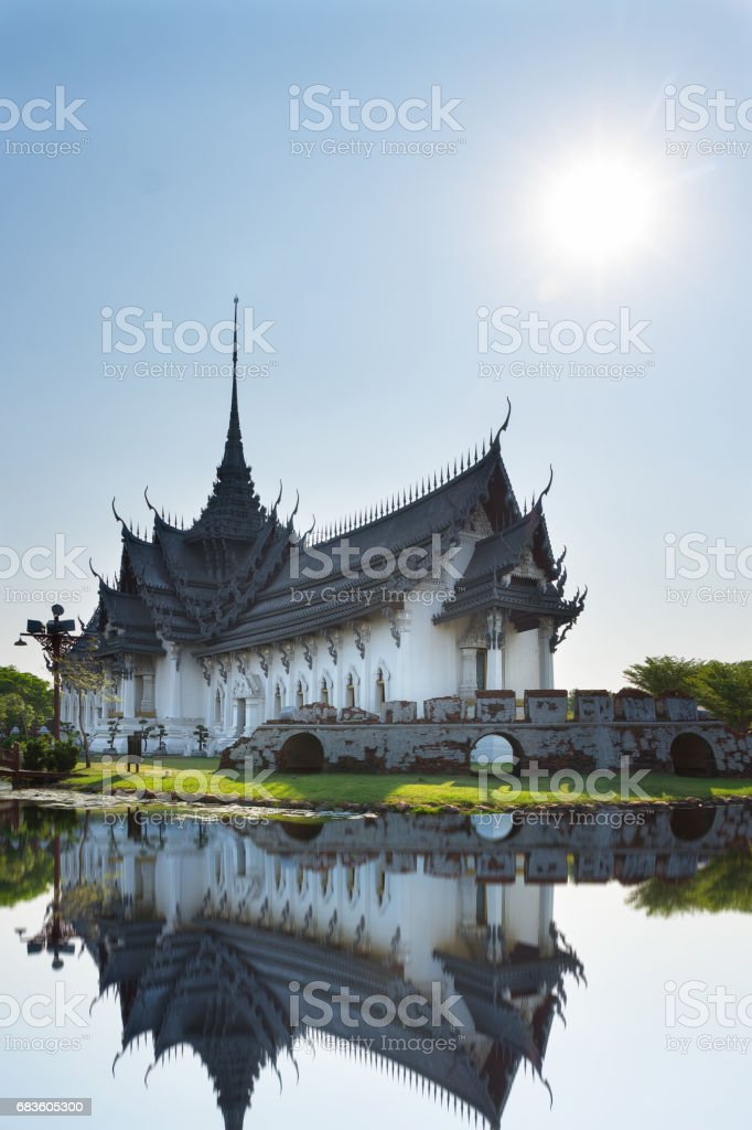 Buddhist Temple in Thailand stock photo