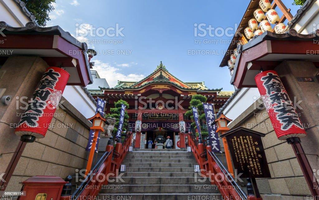 Buddhist temple in Ueno, Japan stock photo