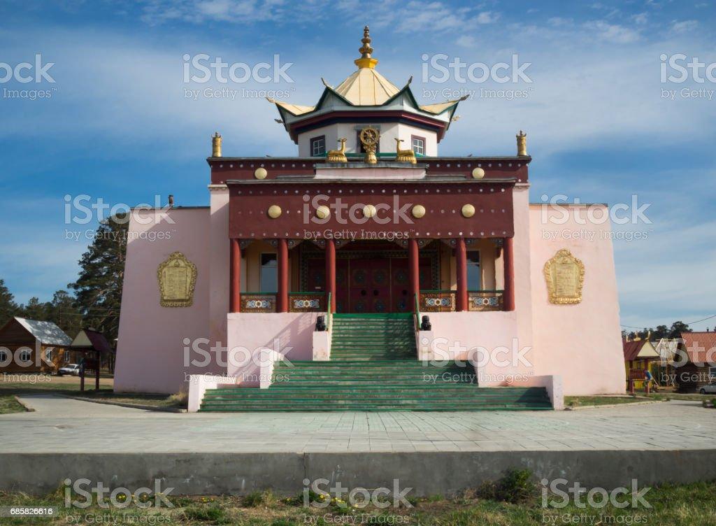 Buddhist temple in Ulan-Ude, Russia stock photo