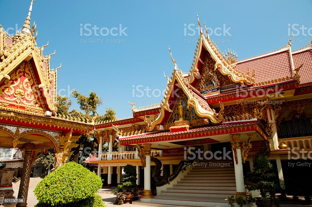Buddhist Temple - Luang Prabang - Laos stock photo