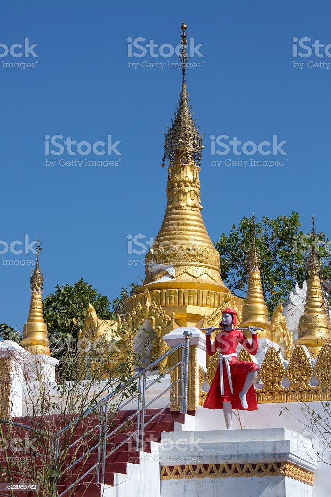 Buddhist Temple - Mount Popa - Myanmar stock photo
