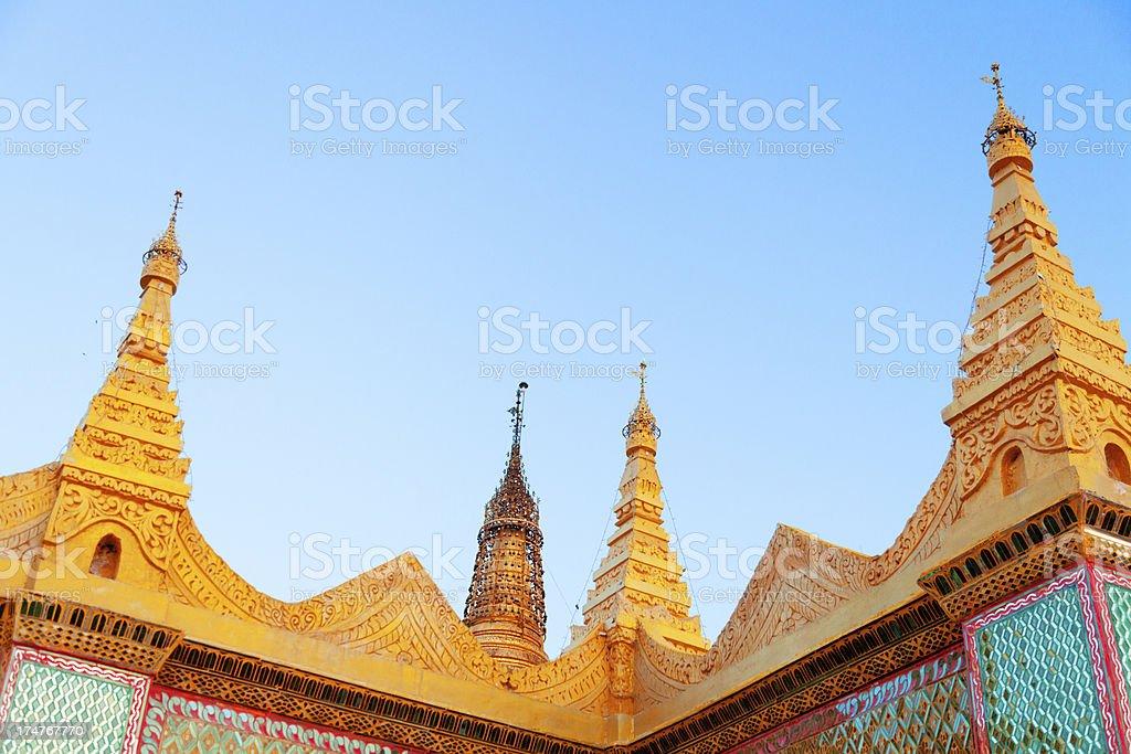 Buddhist temple, Myanmar royalty-free stock photo