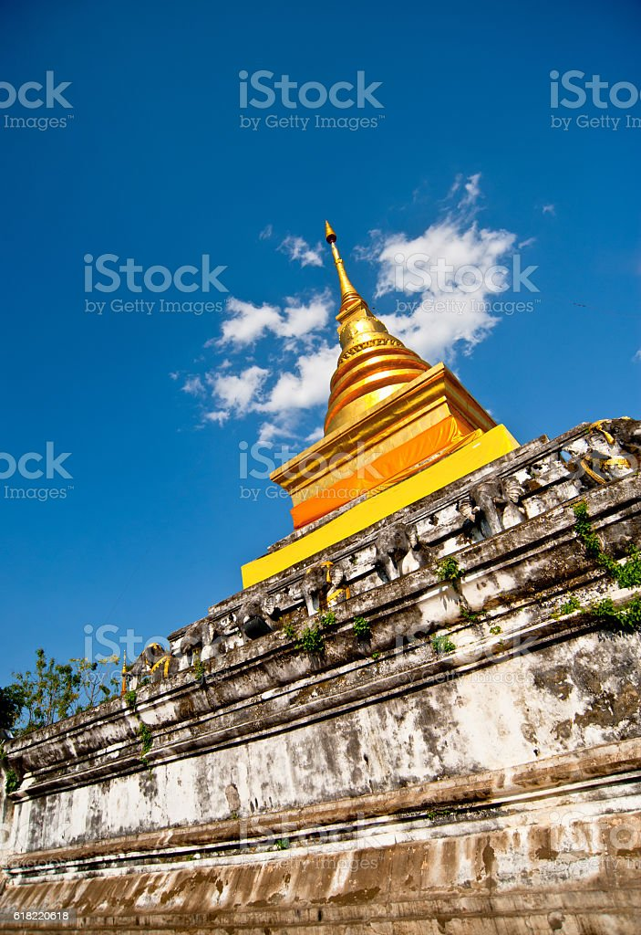 Buddhist temple of Wat Phumin in Nan, Thailand stock photo