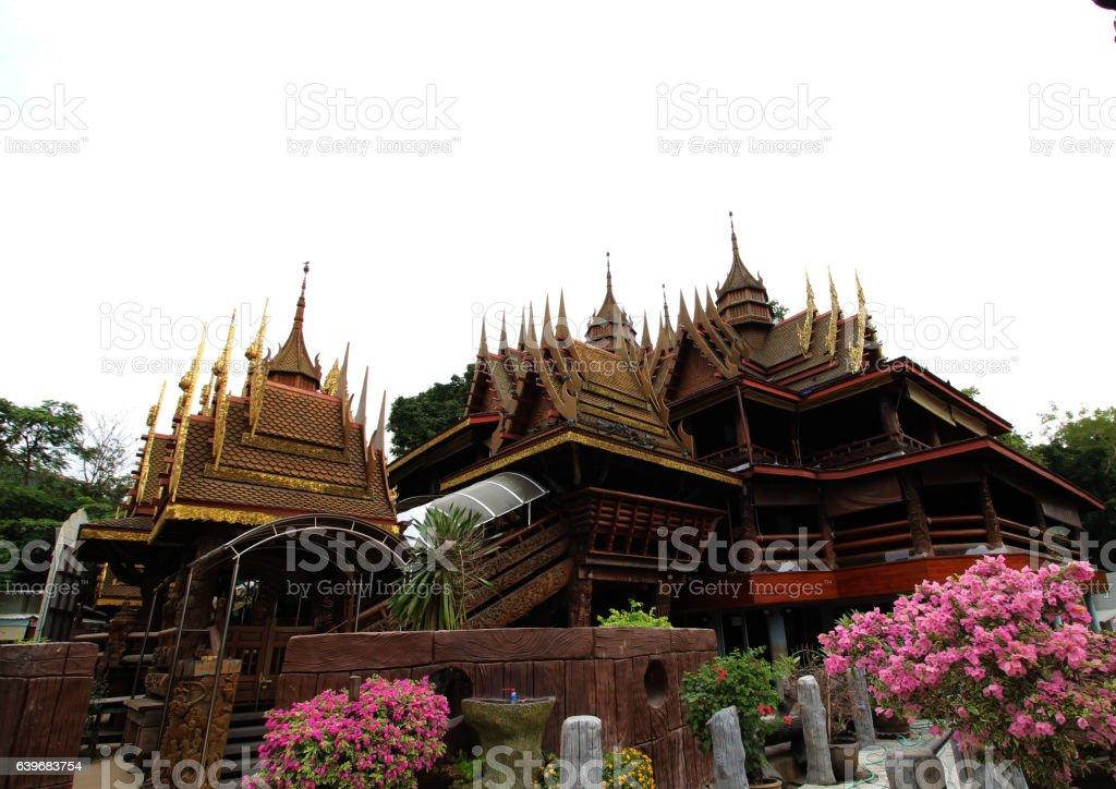 ิีBuddhist temple stock photo