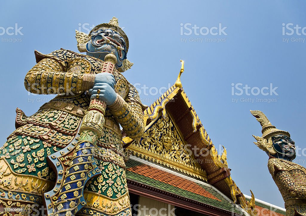 Buddhist Temple Sculptures royalty-free stock photo