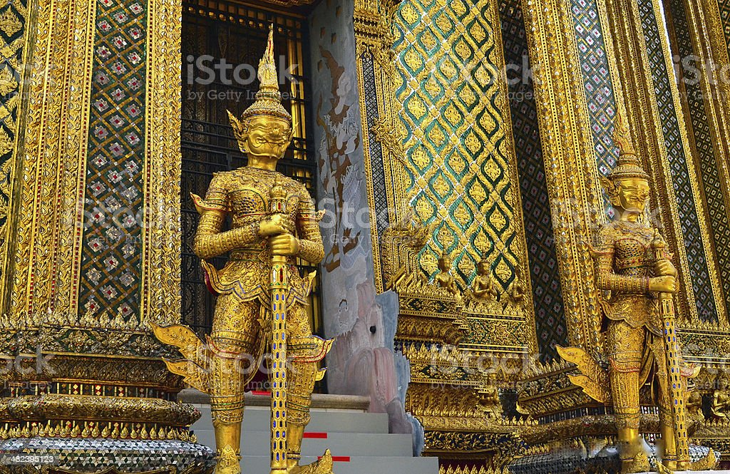 Buddhist Temple Sculptures stock photo