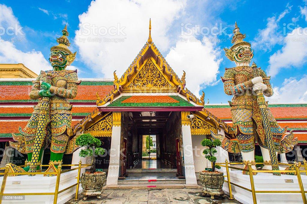 Buddhist Temple Sculptures stock photo