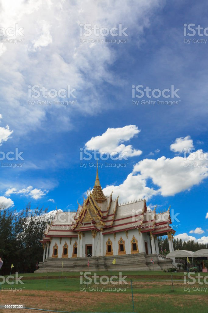 Buddhist Temple Somdej Toh Park, Nakhon Ratchasima, Thailand stock photo